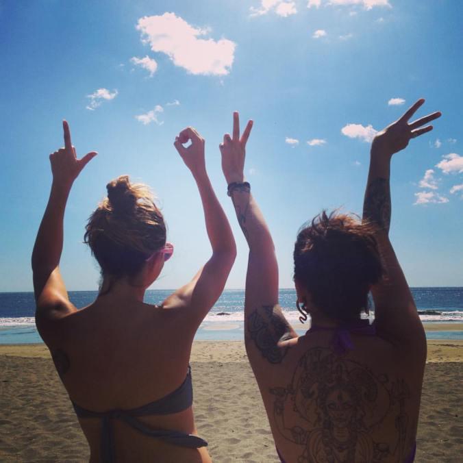 love, beach, girls