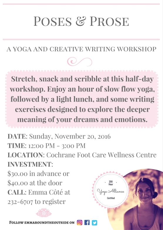 poses and prose yoga and writing